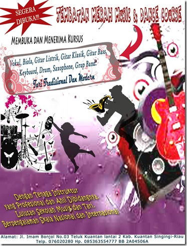 BANNER JEMBATAN MERAH MUSIC & DANCE COURSE