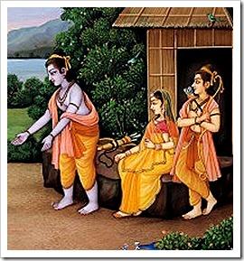 Lakshmana, Sita and Rama
