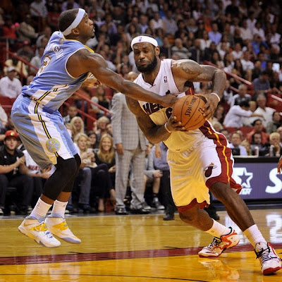 lebron james nba 140314 mia vs den 10 LeBron Goes Back to LeBron 11 with New Miami Heat Home PE