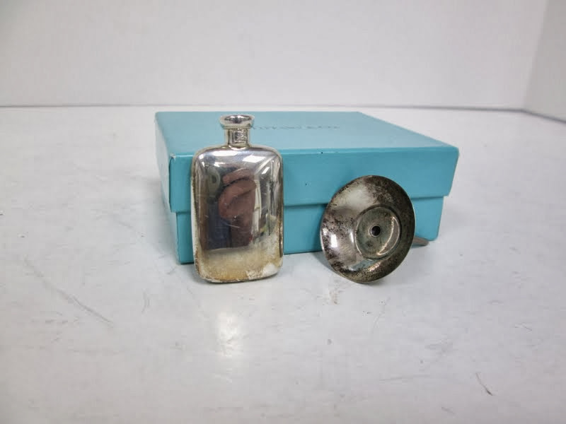 Vintage Tiffany & Co Sterling Silver Perfume Bottle Flask and Funnel
