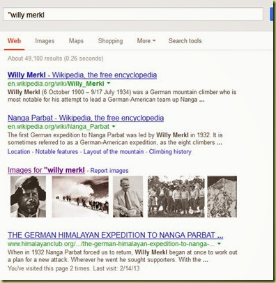 Willy Merkl Search
