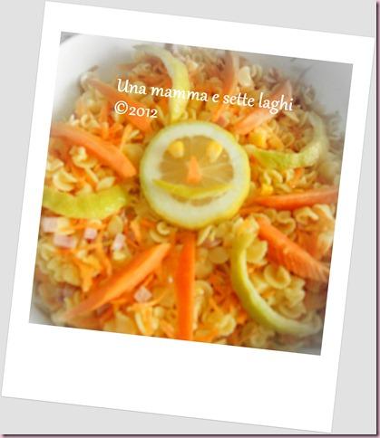 Insalata di margheritine in un prato di carote