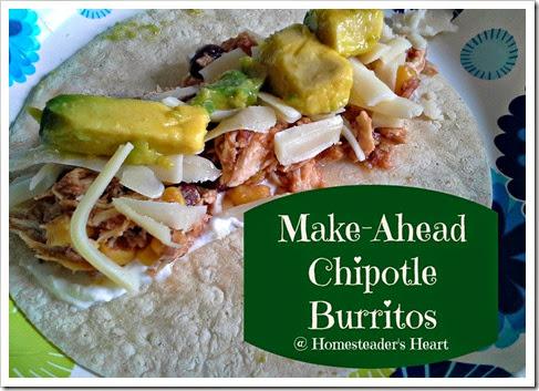 Chipotle burritos