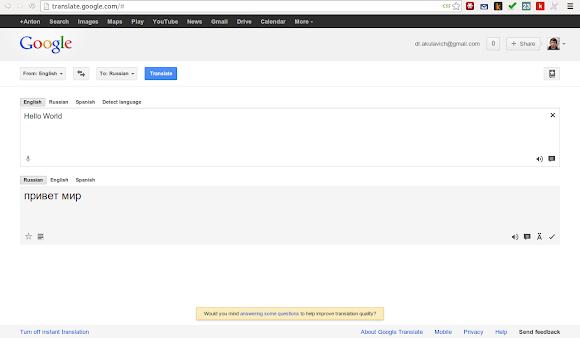 stylebot: google translate