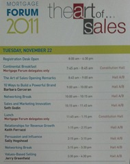 The Art Of Sales schedule (Nov 22, 2011)