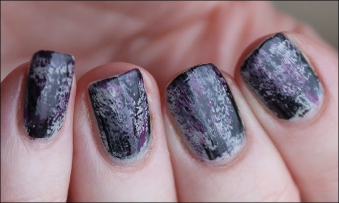 Grunge Nail Art Nageldesign Distressed Nails 03
