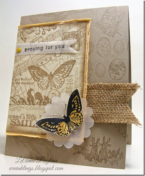 LeAnne Pugliese WeeInklings Butterfly Collage Stampin