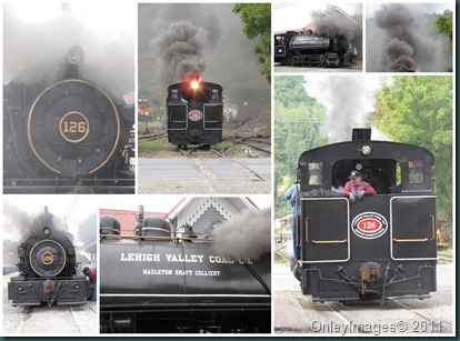 steam train collage