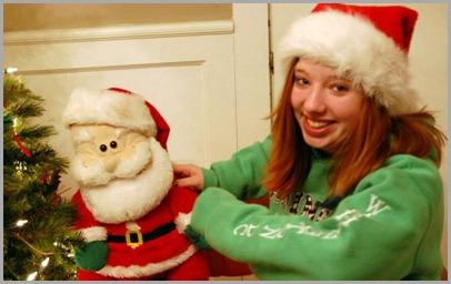 Briana and Santa