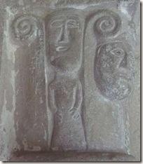 Mujer con falda - Iglesia de San Esteban de Eusa