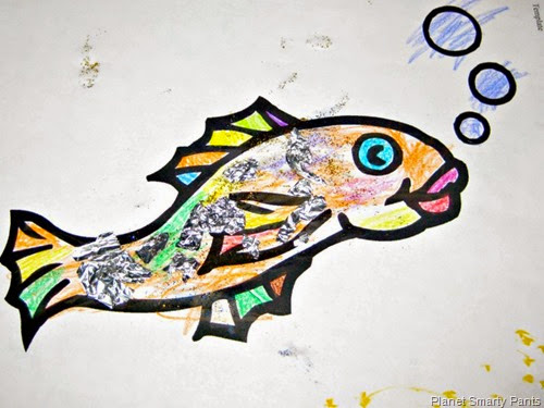 Simple Rainbow Fish Project for Preschool