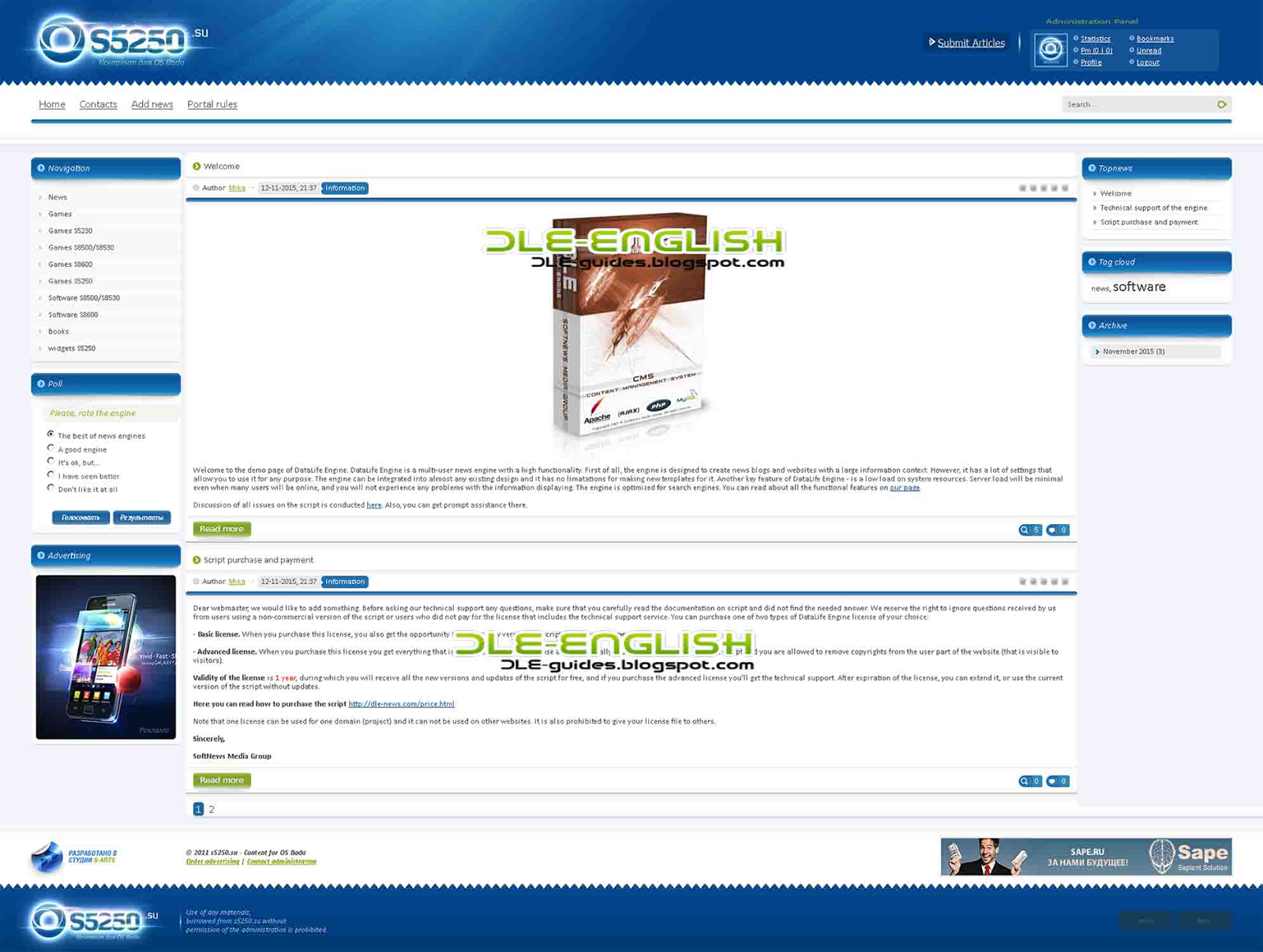 S5250 Template FOR DLE 10.6 English