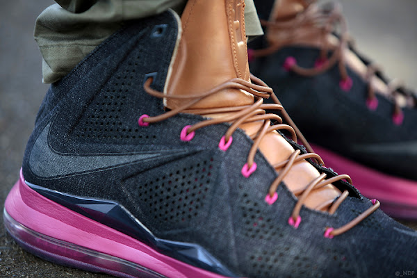NIKE LEBRON X EXT DENIM QS 8211 Summer 2013 8211 On Foot