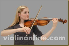 violin bow placement - front