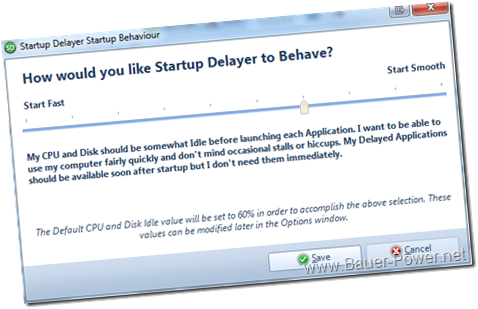 Startup Delayer Startup Behaviour
