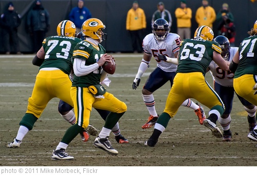 'Aaron Rodgers' photo (c) 2011, Mike Morbeck - license: http://creativecommons.org/licenses/by-sa/2.0/
