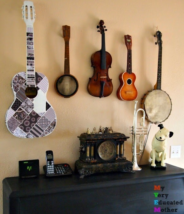 musicwall #DIYdecor #unconventionaldecor #crafts