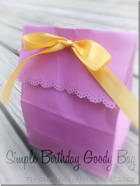 Simple Birthday Goody Bag