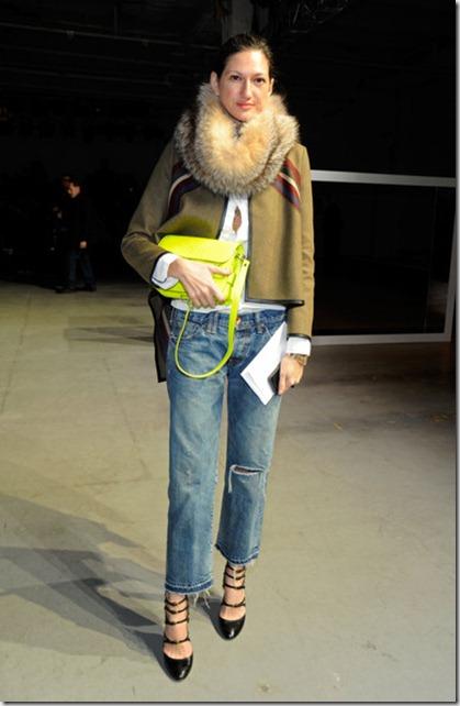 Jenna Lyons Derek Lam Front Row Fall 2012 y6PSraIRWEbl