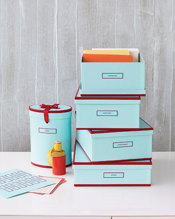 These boxes are stylish and functional. They're a practical way to bring color into your home or your office.