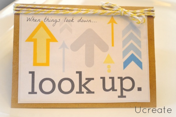 look up card