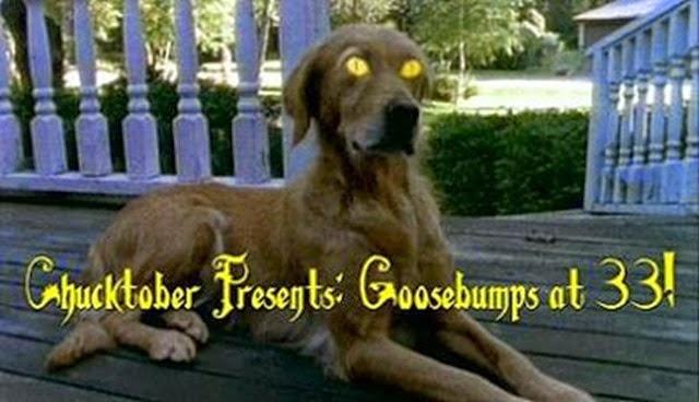 Goosebumps Dog With Yellow Eyes