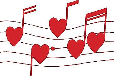 Heart Musical Notes