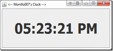 Reloj en Java