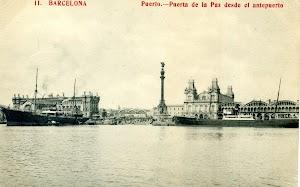 El vapor ISLA DE MENORCA con el casco pintado de negro. POSTAL.jpg