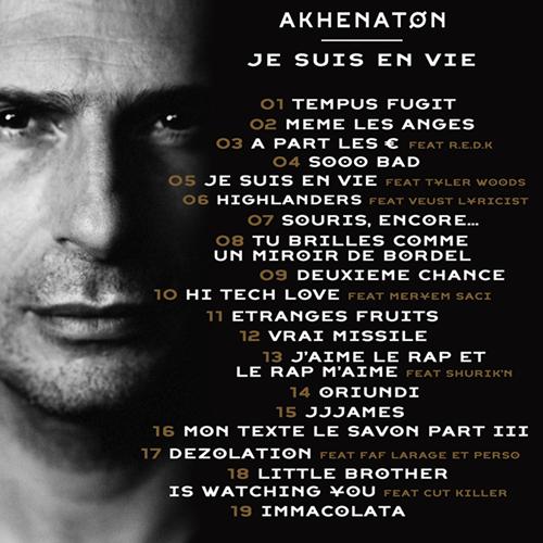 Akhenaton-Je-suis-en-vie-Tracklisting