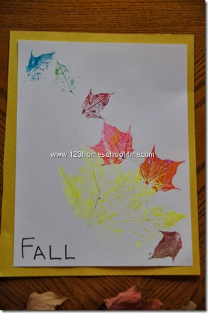 Here is our beautiful leaf art craft for kids all done