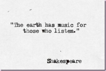 shakespeare - earths's music