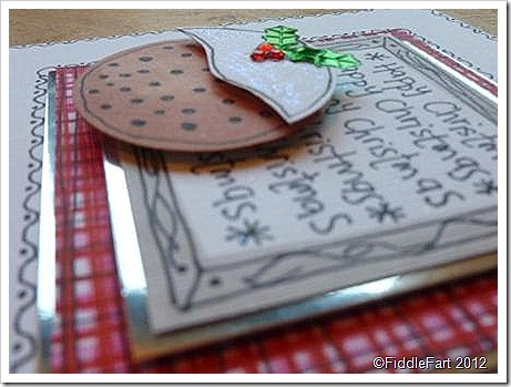 Doodle Christmas Pudding Card