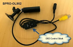 BPRO-OL952 Bullet CCTV Camera built in on screen display joystick