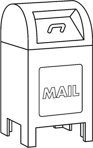 Mail Drop Box Coloring Page, Mail, Free Engine Image For