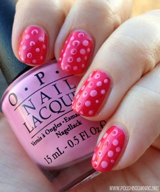 polish insomniac opi minnie mouse nail art 1 2