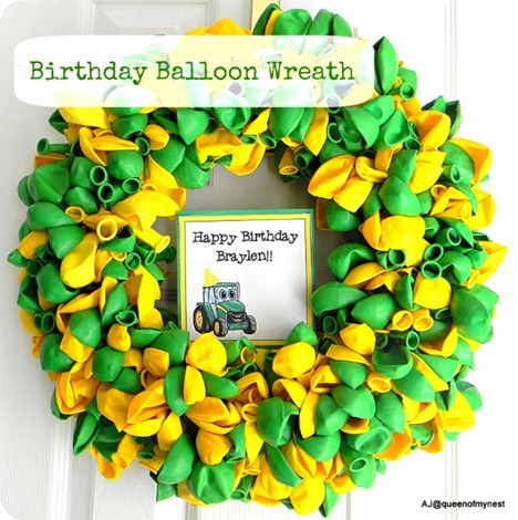 Birthday Balloon Wreath with Title