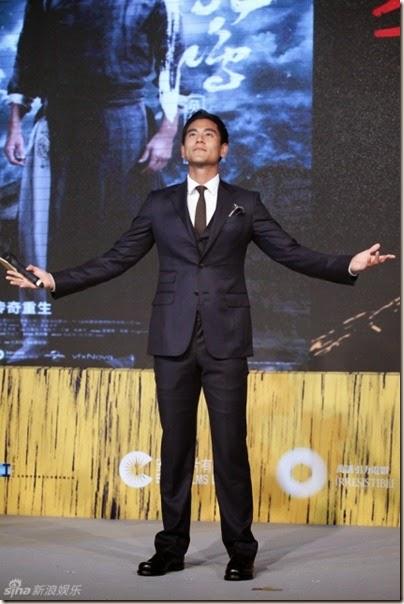 """2014.08.10 Eddie Peng during Rise of the Legend - 彭于晏 黃飛鴻之英雄有夢 烏鎮 - """"傳奇重生""""發佈會 01"""