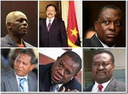 lista completa do novo Governo Angolano 2012.