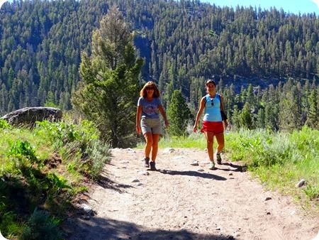 downhill hike