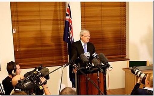 kevin rudd new australian prime minister