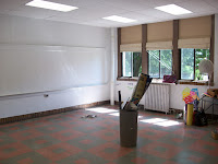 Empty English room at the 1918 Building