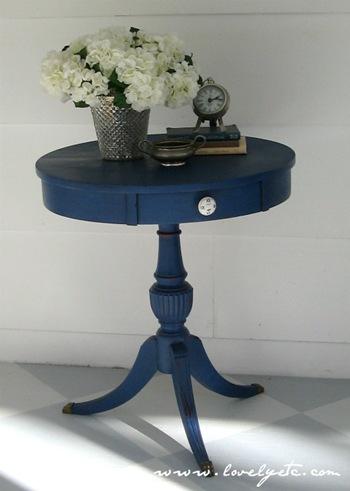 blue chalk paint table