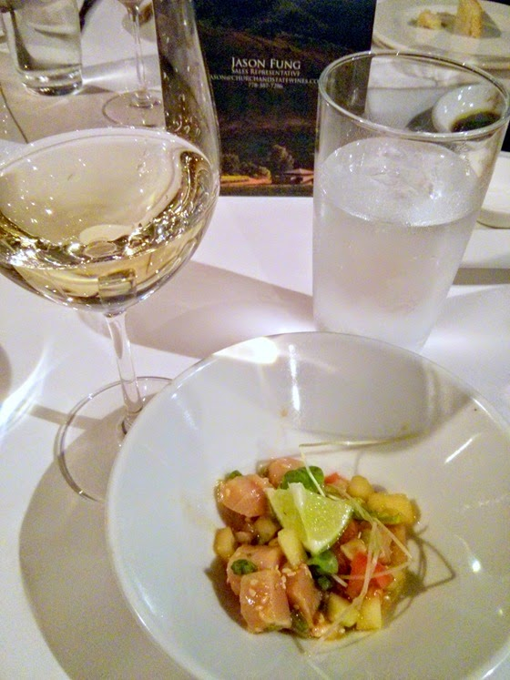 Albacore Tuna Poke with Church & State 2013 Cuvee Blanc