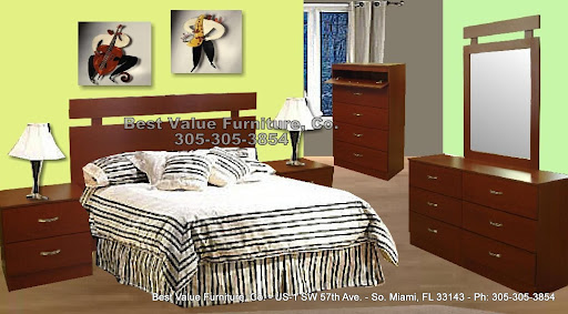 METROPOLIS - Cherry - $499 - 6 Pc Full/Queen Set -  Includes: Queen Bed, 2 Nightstands Dresser/Mirror & Chest