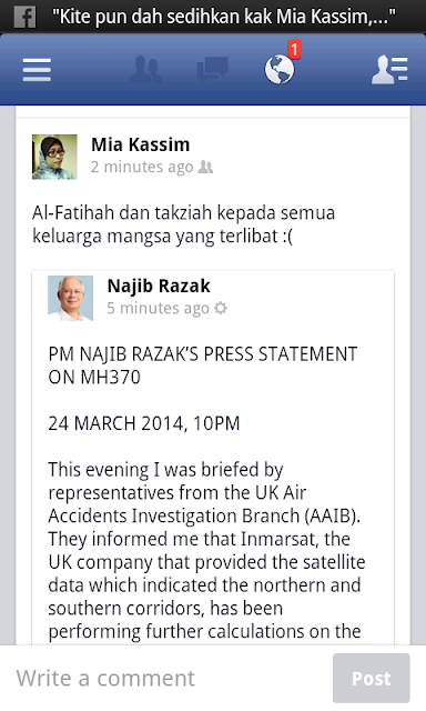 PM Najib Razak's Press Statement on MH370