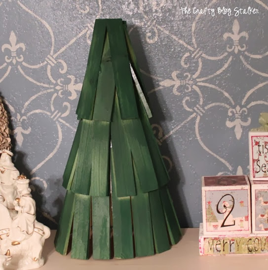 wood shim Christmas Tree