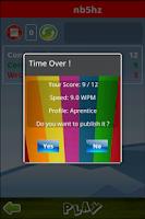 Screenshot of Typing Master