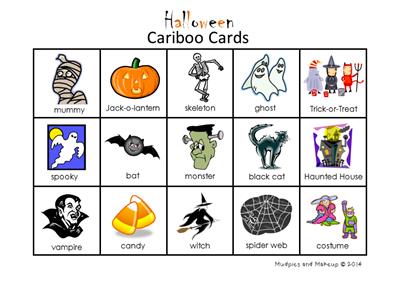 Halloween Cariboo Cards