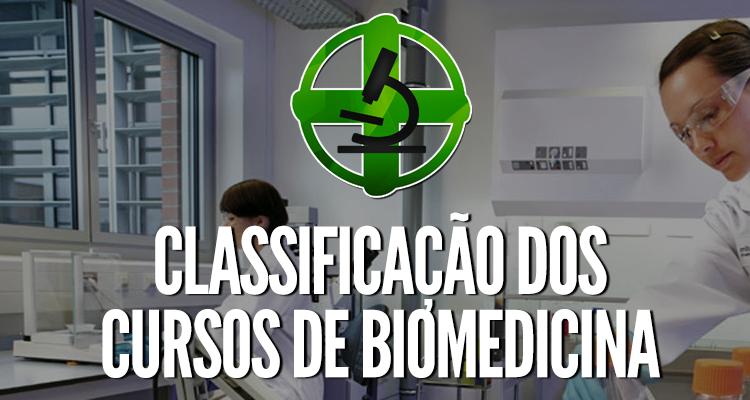 Classificação dos cursos de Biomedicina, segundo o MEC